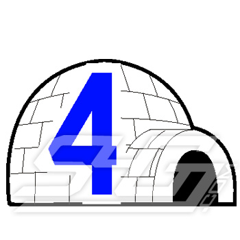 Igloo with Number Icon