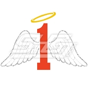 Number with Angel Wings Icon