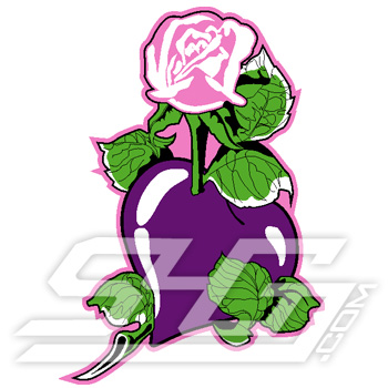 Purple Heart Pink Rose Icon