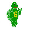 Turtle with TBS Hand Sign Icon