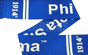 Phi Beta Sigma Scarf with Organization Name, Royal Blue