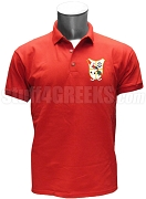 Pi Delta Psi Crest Polo Shirt, Red
