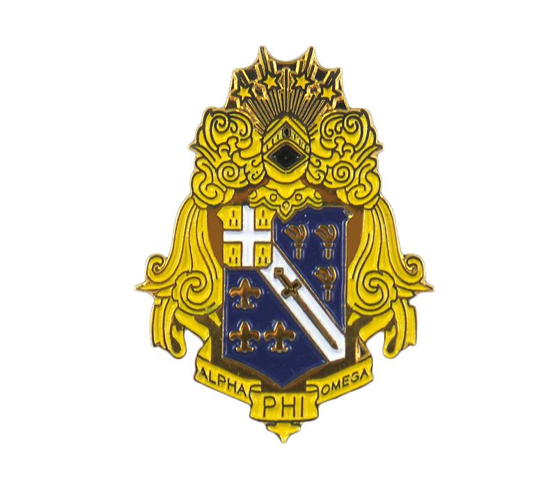 Alpha Phi Omega 1 125 Quot Crest Pin Full Color