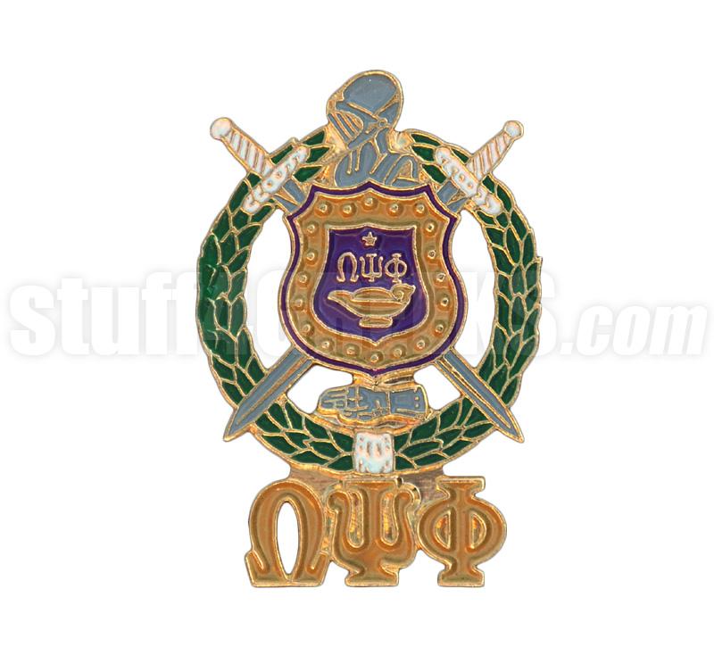 Omega Psi Phi 1 Shield Lapel Pin Full Color