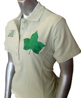 AKA Flag and Ivy Leaf Polo, Light Green Polo