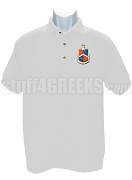Alpha Delta Gamma Polo Shirt with Crest, White