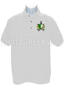 Alpha Delta Phi Polo Shirt with Crest, White