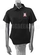 Alpha Eta Theta Ladies Polo Shirt with Crest, Black