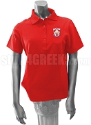 Alpha Lambda Omega Polo Shirt with Crest, Red