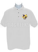 Alpha Nu Omega Men's Polo Shirt with Crest, White