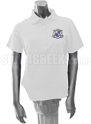Alpha Pi Zeta Polo Shirt with Crest, White