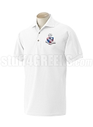 Alpha Rho Chi Men's Polo Shirt with Crest, White