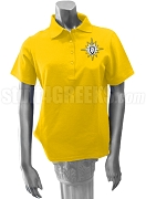 Alpha Zeta Ladies' Polo Shirt with Crest, Gold