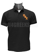 Beta Psi Chi Polo Shirt with Logo Letters, Black