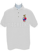Beta Theta Pi Polo with Crest, White