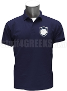 Beta Xi Chi Polo Shirt with Crest, Navy Blue