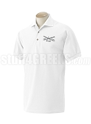 Buffalo Soldier Polo Shirt with Crest, White