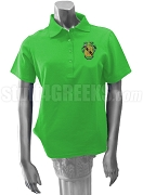 Chi Alpha Delta Polo Shirt with Crest, Kelly Green
