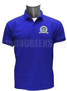 Chi Rho Omicron Polo Shirt with Crest, Royal Blue