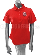 Chi Sigma Alpha Polo Shirt with Crest, Red