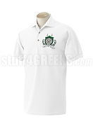 Chi Sigma Tau Polo Shirt with Crest, White