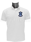 Delta Alpha Omega Polo Shirt with Crest, White