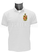 Delta Chi Polo Shirt with Crest, White