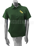 Delta Kappa Sigma Polo Shirt with Logo Letters, Forest Green
