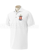 Delta Phi Delta Men's Polo Shirt with Crest, White
