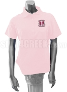 Delta Phi Kappa Polo Shirt with Crest, Pink
