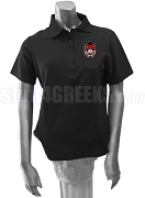 Delta Phi Omega Ladies' Polo Shirt with Crest, Black