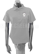 Delta Psi Alpha Ladies Polo Shirt with Crest, Gray