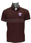 Delta Sigma Iota Polo Shirt with Crest, Maroon