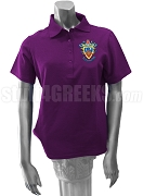 Delta Sigma Pi Ladies' Polo Shirt with Crest, Purple
