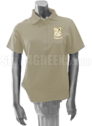 Delta Tau Lambda Polo Shirt with Crest, Cream