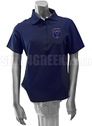 Delta Tau Sigma Polo Shirt with Crest, Navy Blue
