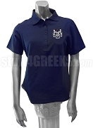 Delta Xi Phi Ladies' Polo Shirt with Crest, Navy Blue