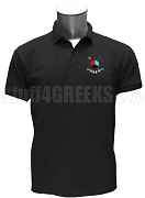 Epsilon Chi Nu Polo Shirt with Crest, Black
