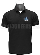 Epsilon Sigma Pi Polo Shirt with Crest, Black