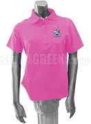 Eta Gamma Pi Ladies' Polo Shirt with Crest, Hot Pink