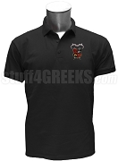 Gamma Beta Chi Polo Shirt with Crest, Black