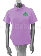 Gamma Gamama Chi Polo Shirt with Crest, Lavender