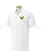 Gamma Phi Omega Fraternity Polo Shirt with Crest, White
