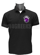 Gamma Phi Sigma Polo Shirt with Crest, Black