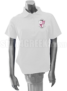 Gamma Pi Polo Shirt with Crest, White