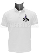 Gamma Xi Phi Men's Polo Shirt with Crest, White