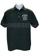 Groove Phi Groove Polo Shirt with Crest, Black