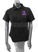 Iota Chi Kappa Polo Shirt with Crest, Black