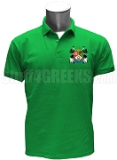 Iota Nu Delta Polo Shirt with Crest, Kelly Green