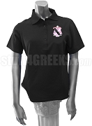 Kappa Alpha Lambda Polo Shirt with Crest, Black